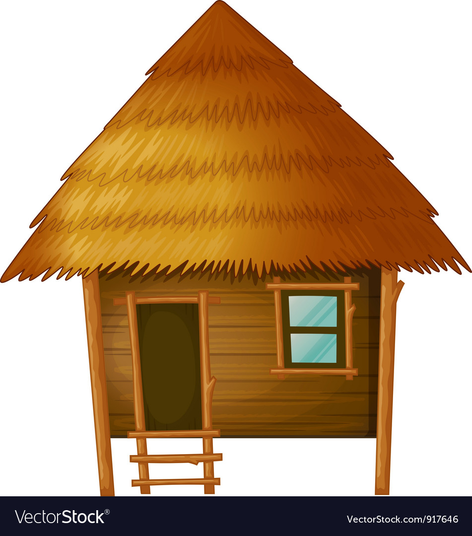 Cartoon Hut Royalty Free Vector Image Vectorstock