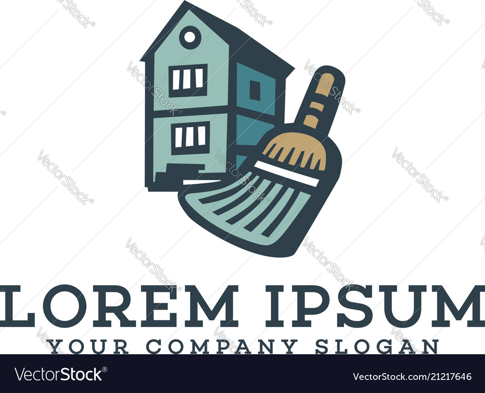 Cleaning services homes logo design concept