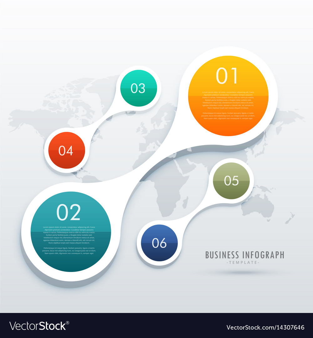 Creative five steps infographics in circular