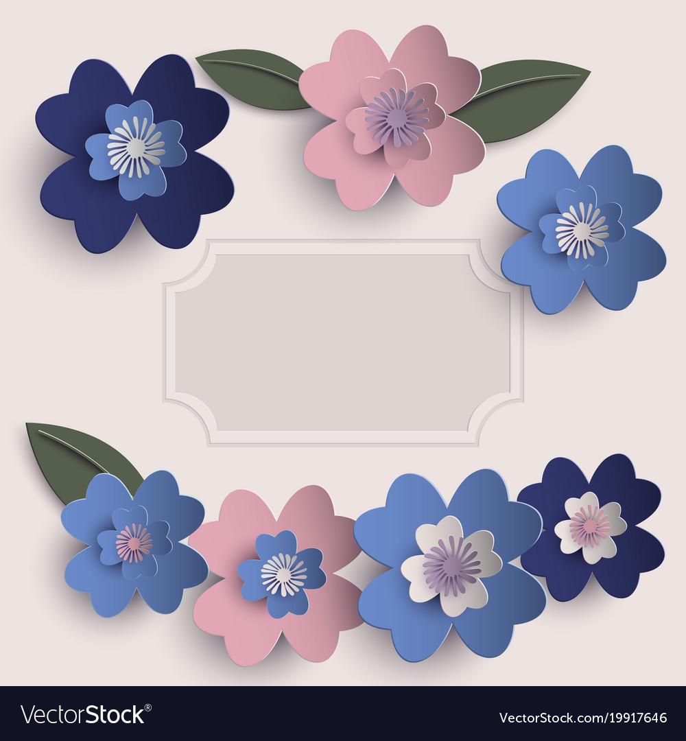 Floral paper art card