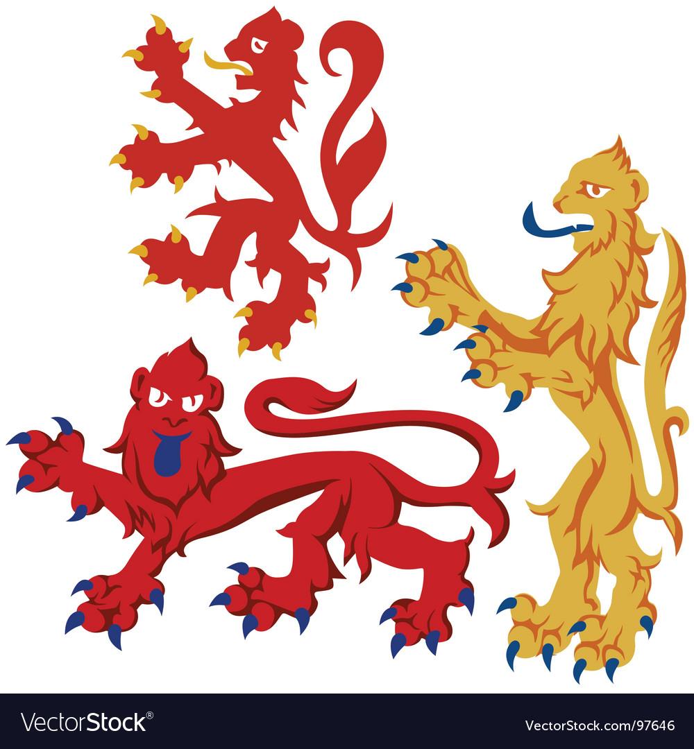 Heraldic lions