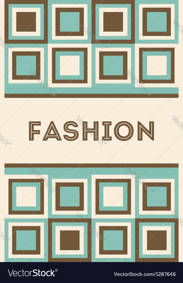 Invitation Or Card With Fashion Pattern