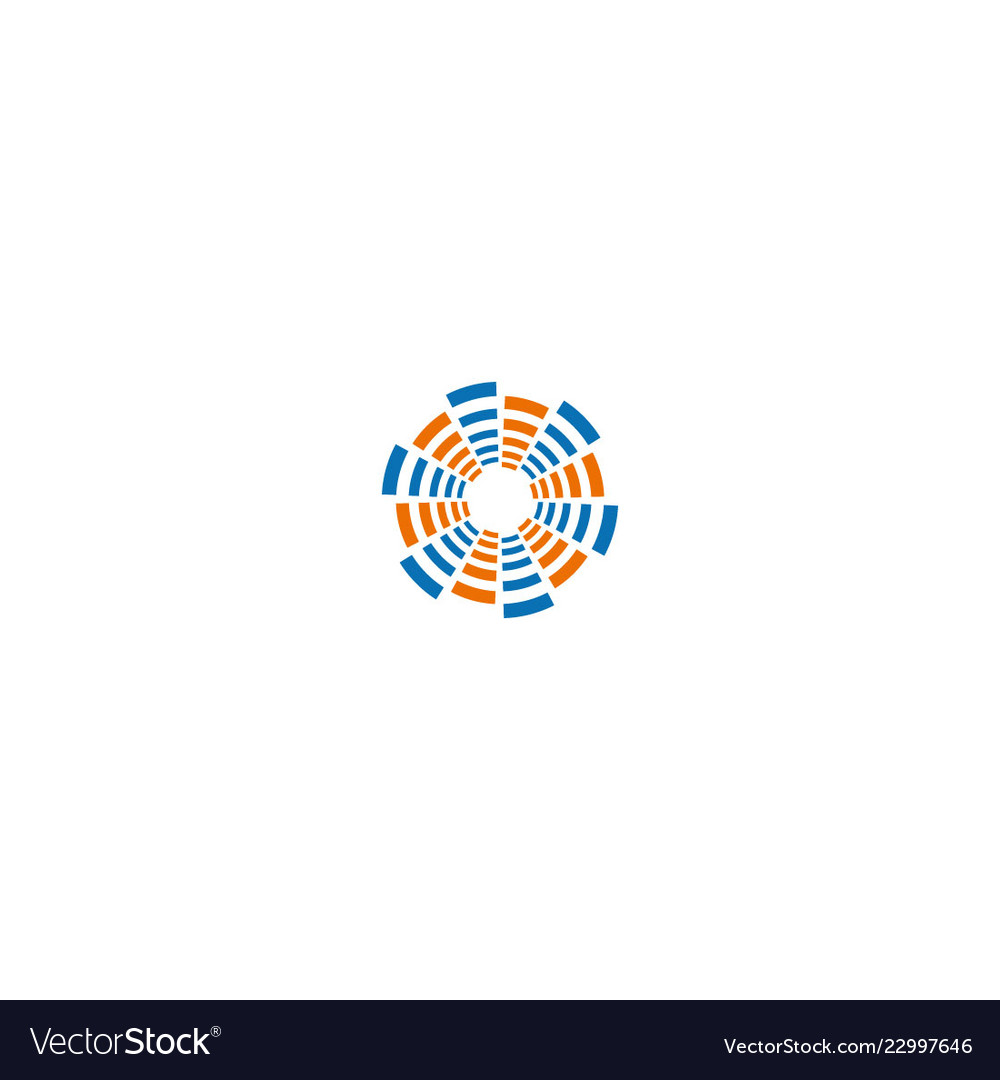 Round circle geometry technology logo