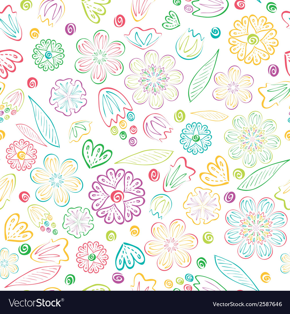 Seamless sweet floral pattern