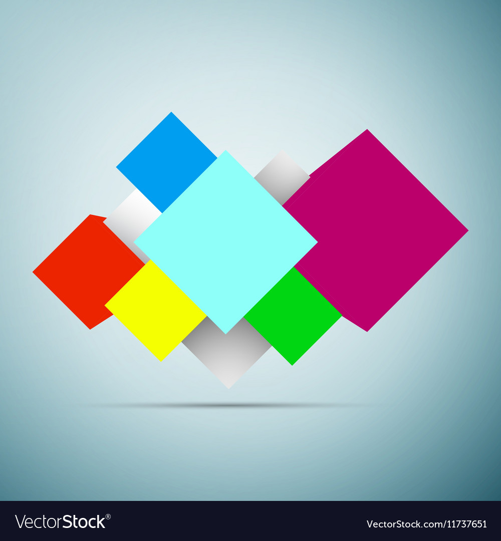 Abstract background with 3d cubes icon isolated on