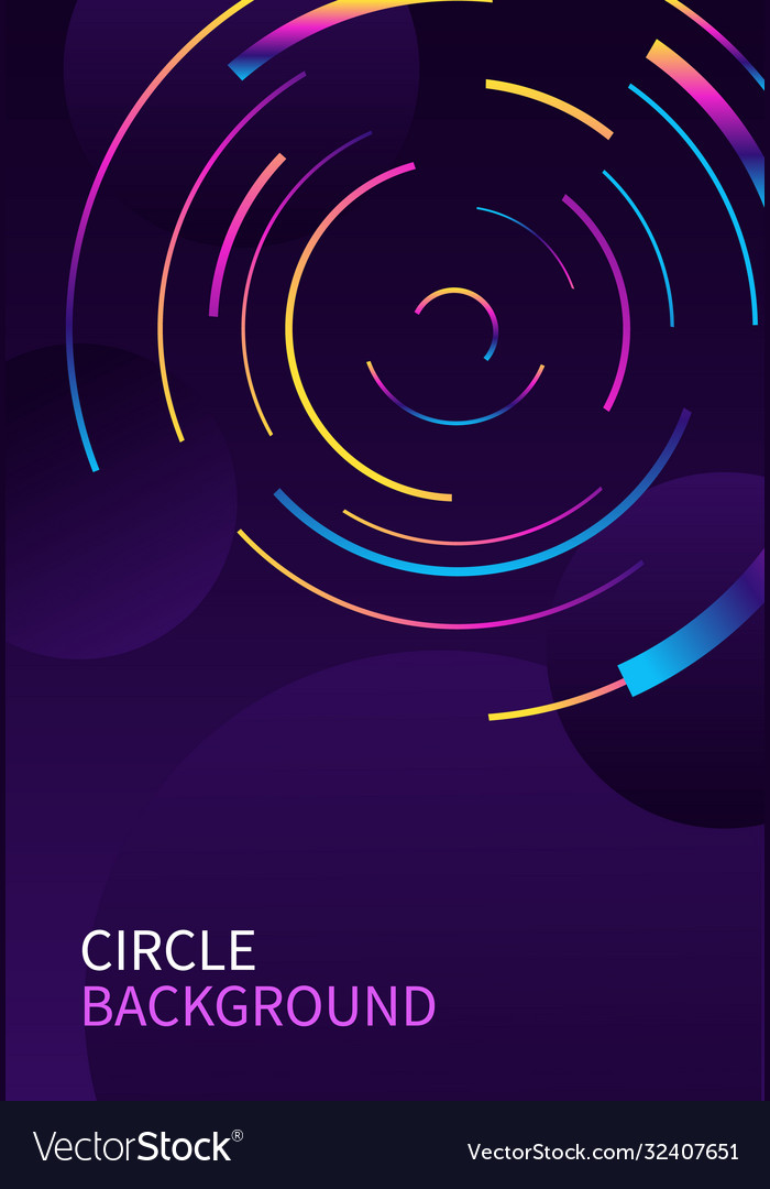 Abstract background with circle line on dark