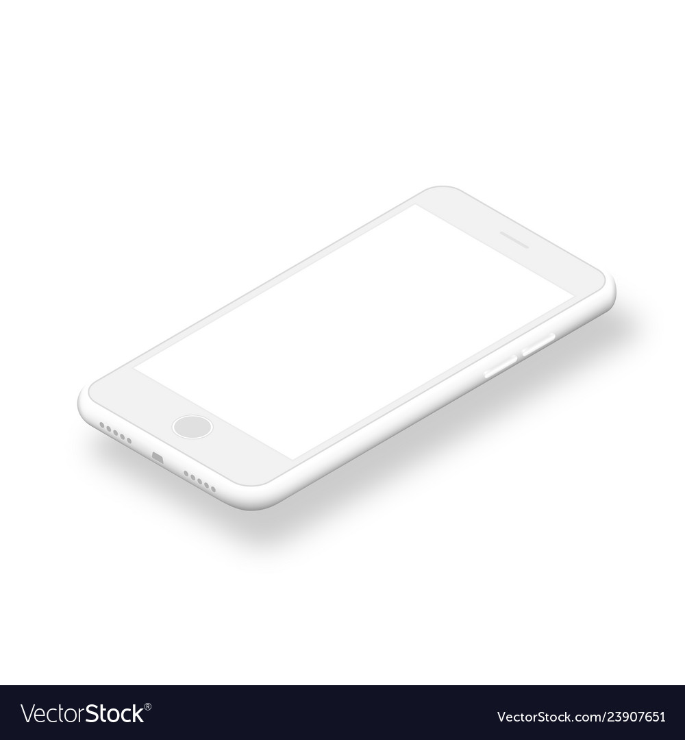 Clean smartphone with blank screen