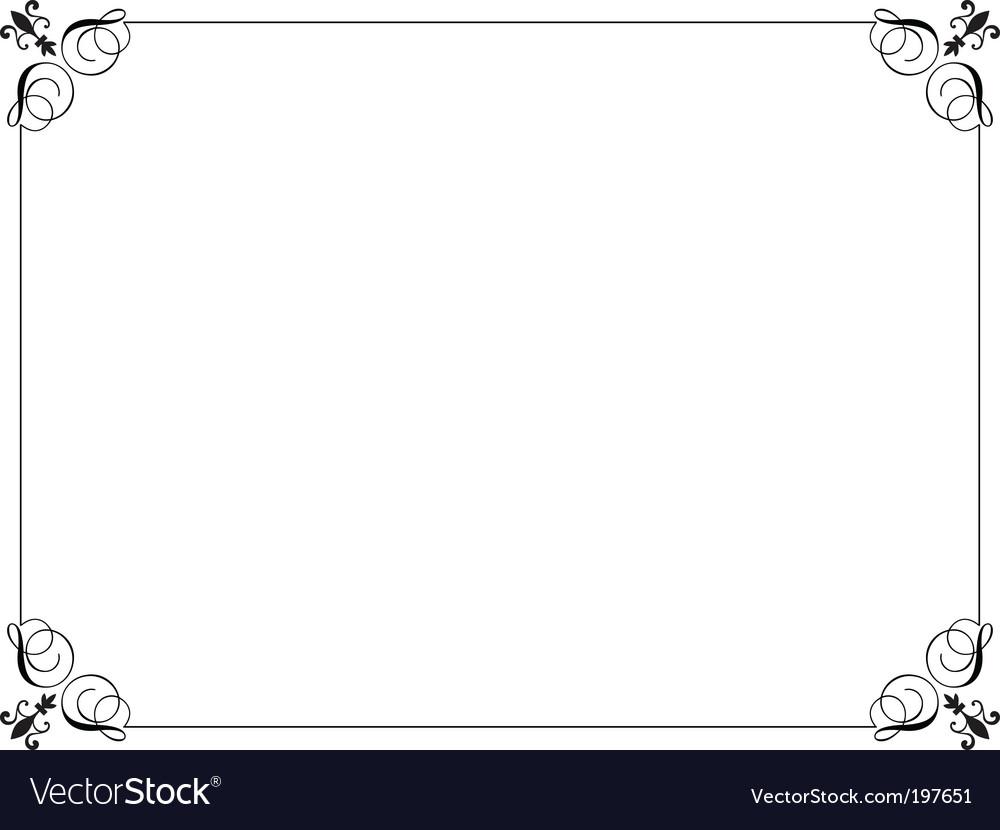 decorative border royalty free vector image vectorstock rh vectorstock com decorative border vector png decorative border corners vector