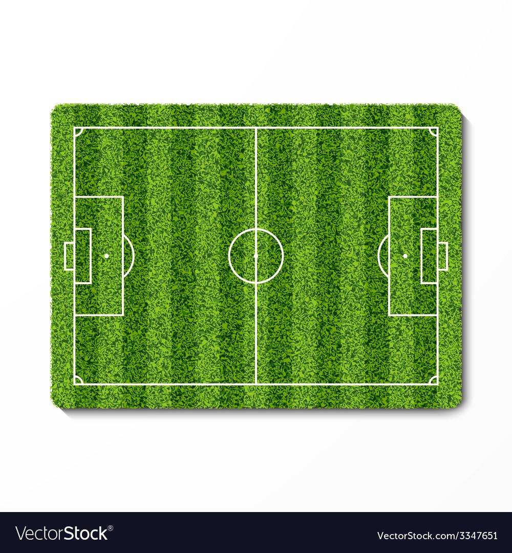 green grass soccer field vector image green e20 green