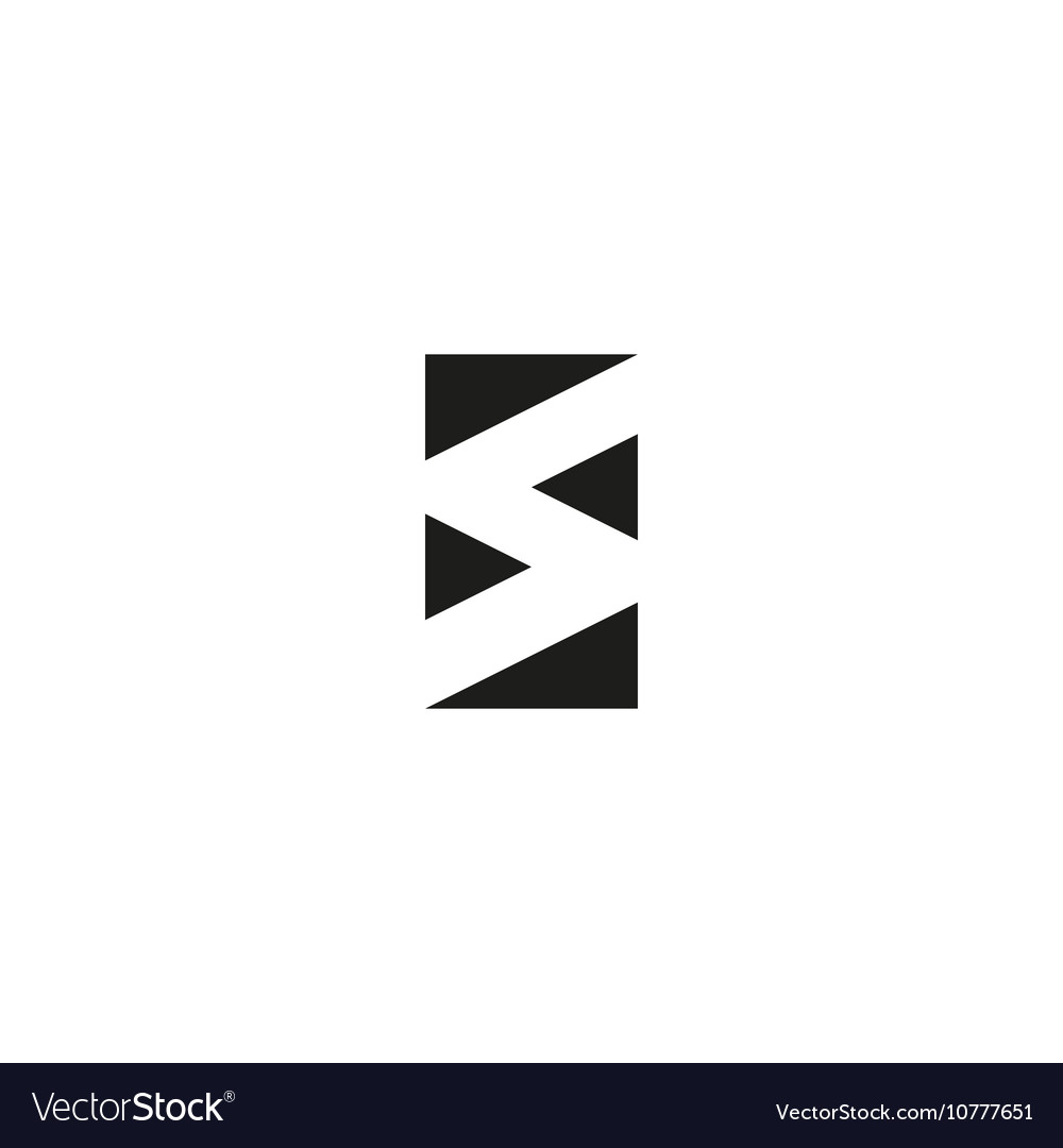 Letter S logo black and white graphic geometric