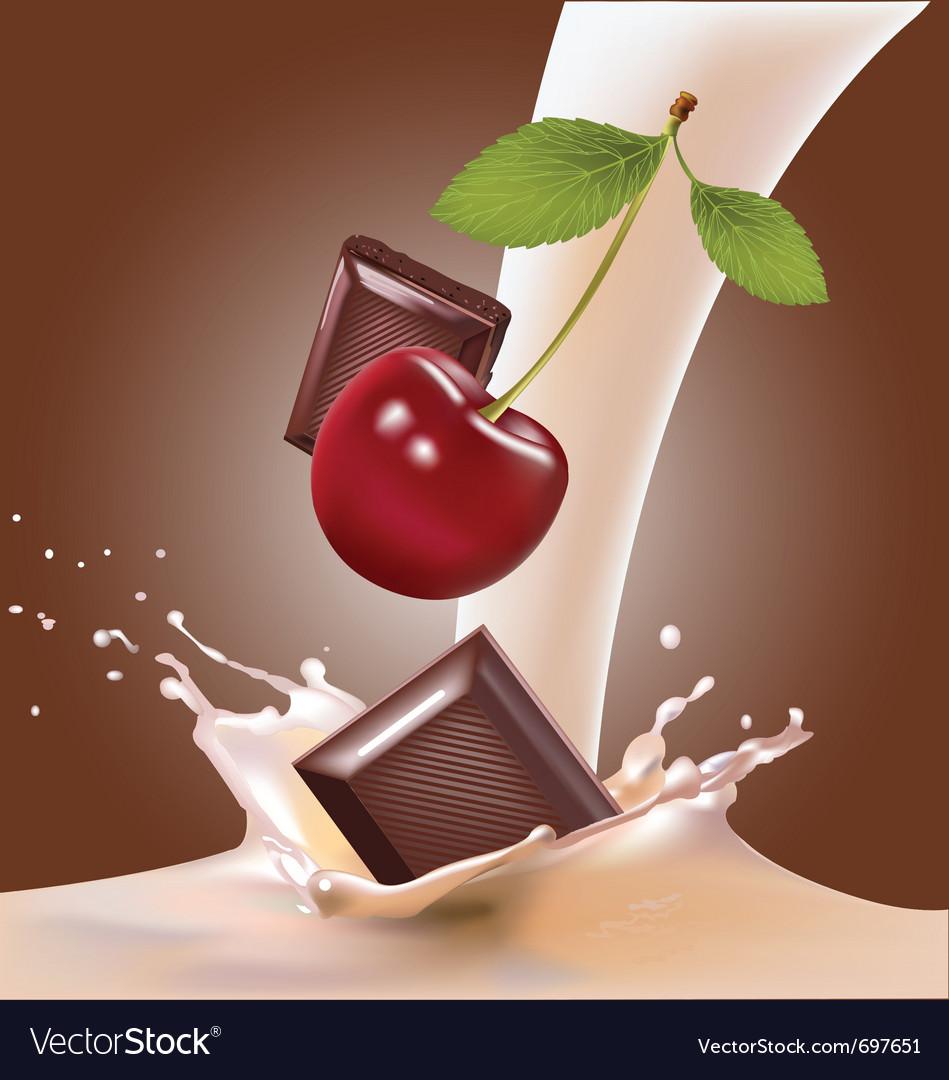 Milk and cherries chocolate