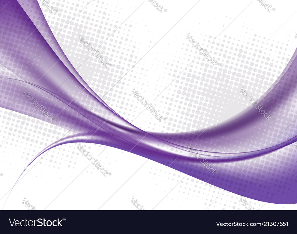 Purple color waves on white background