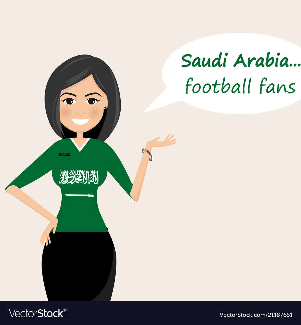 Saudi arabia football fanscheerful soccer fans