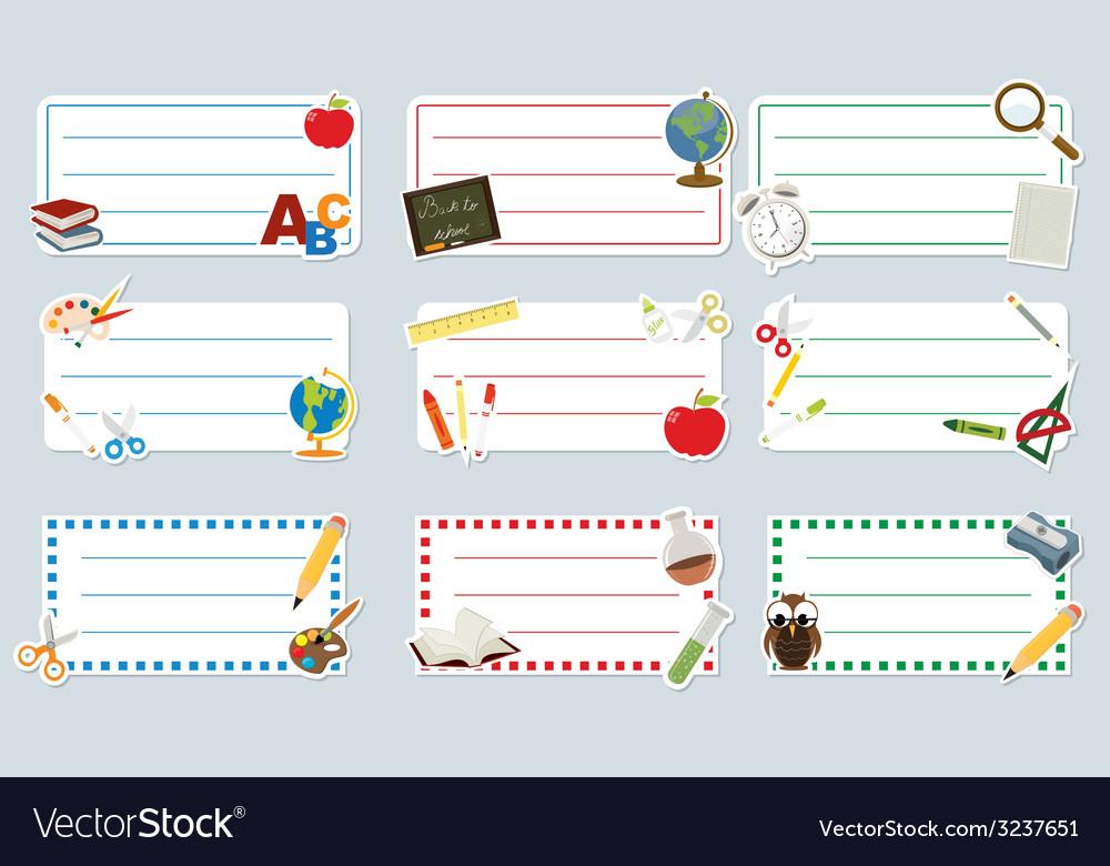 School labels vector image
