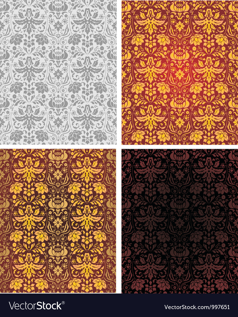 Seamless vintage background wallpaper vector image