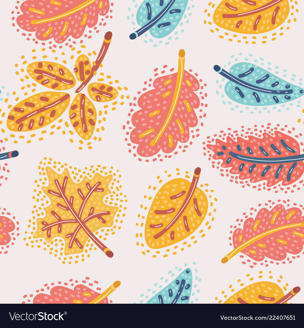 The autumn background of falling leaves