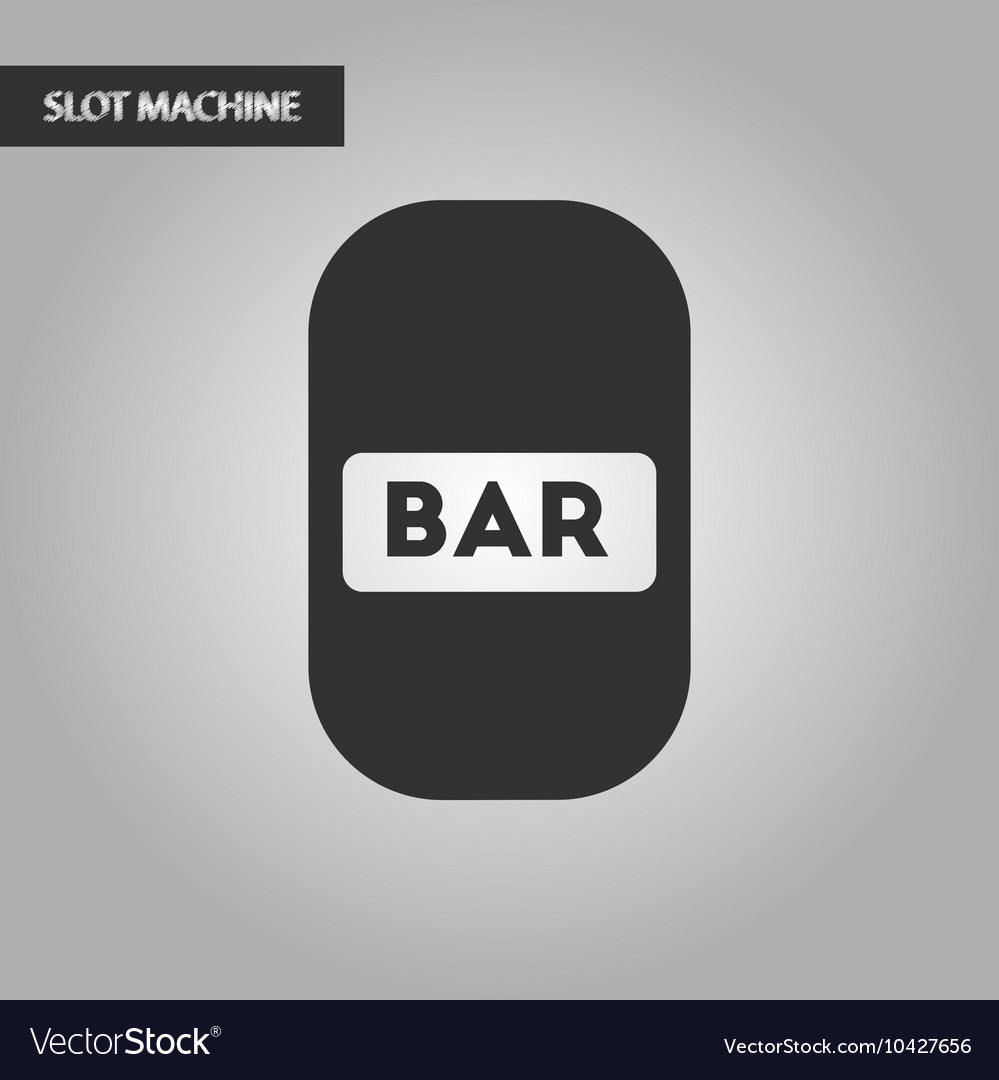 Black and white style bar sign