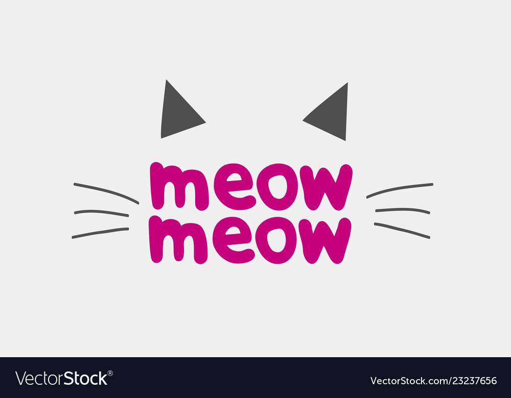 Cat face logo icon brand design