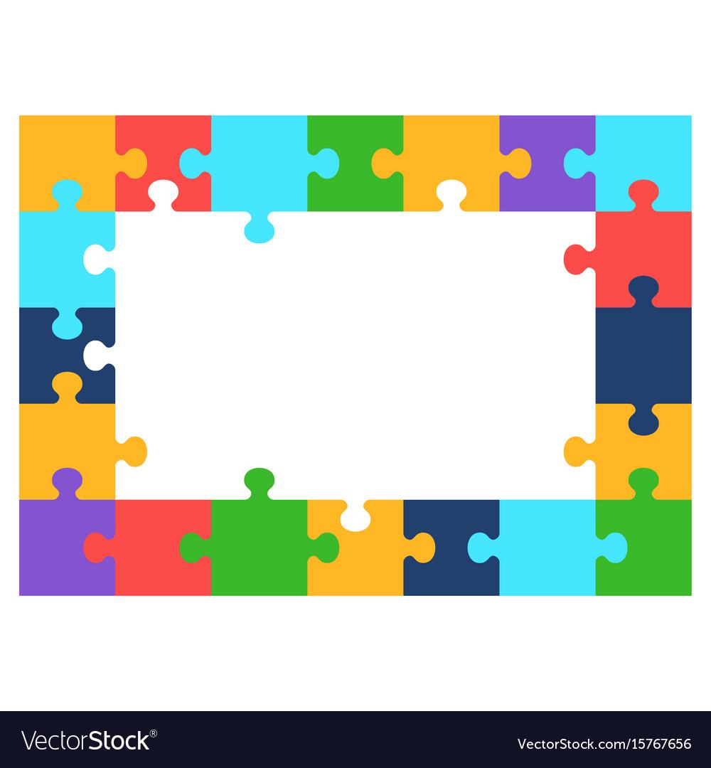 Color puzzle frame Royalty Free Vector Image - VectorStock