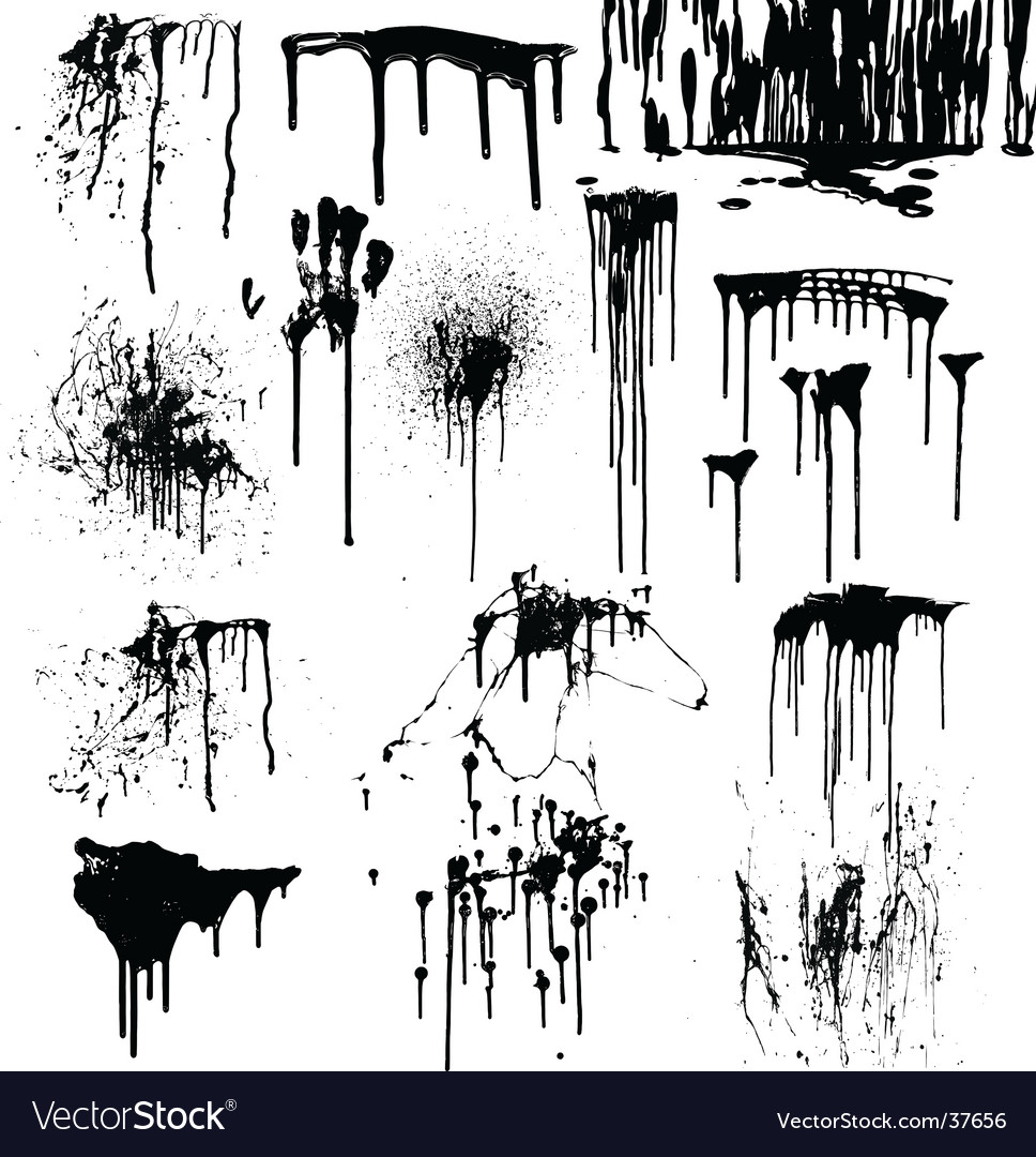 Dripping splatters of blood vector image