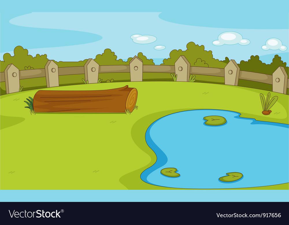 Empty park scene