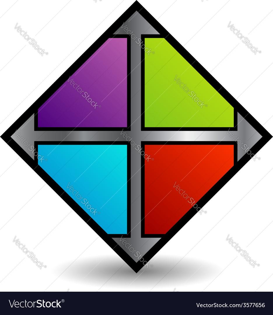 Floor tile business logo in multicolor