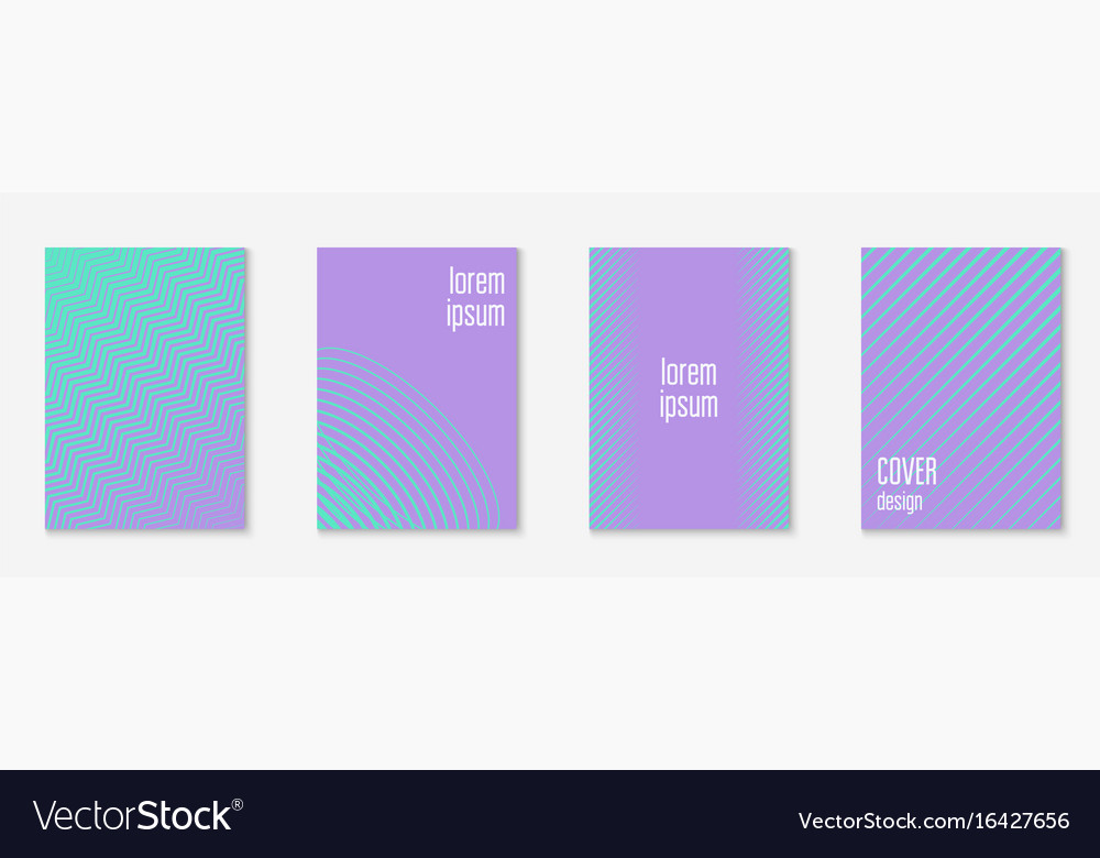 Minimal trendy covers vector image