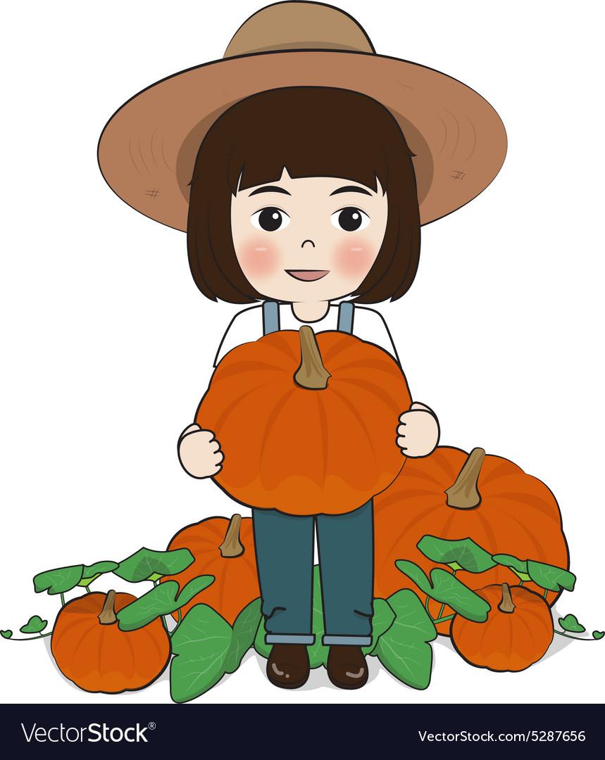 Planter and pumpkin