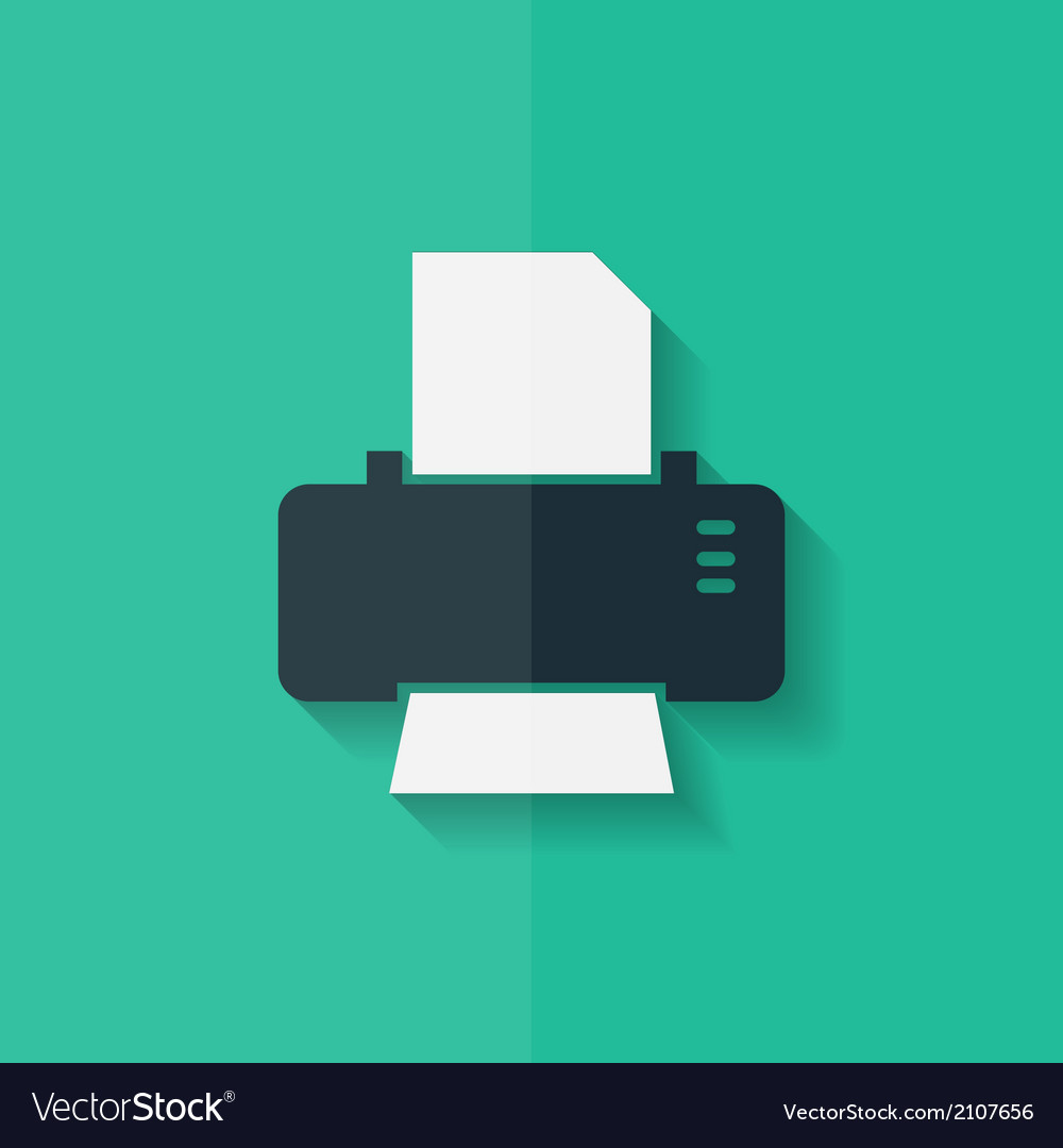 Printer web icon Flat design