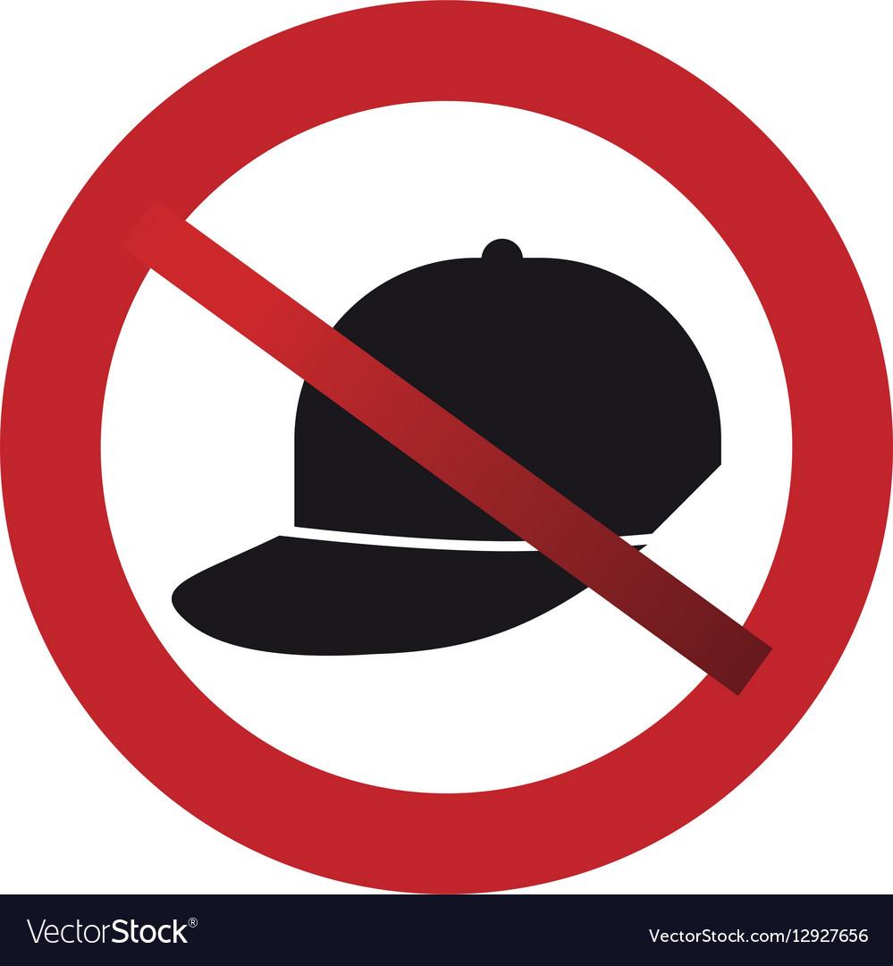 Prohibited cap sport fashion element sign road
