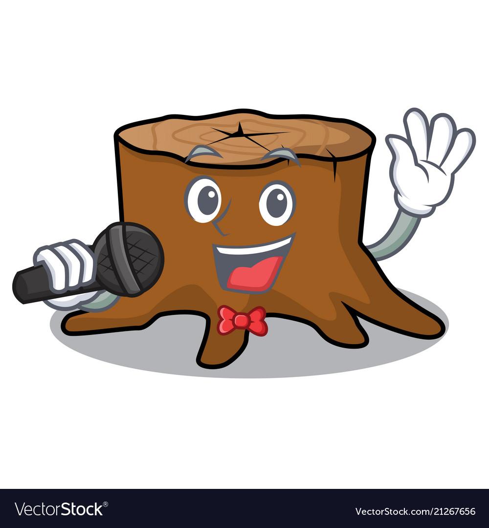 Singing Tree Stump Mascot Cartoon Royalty Free Vector Image Friendly mascot logo design collection for download. vectorstock