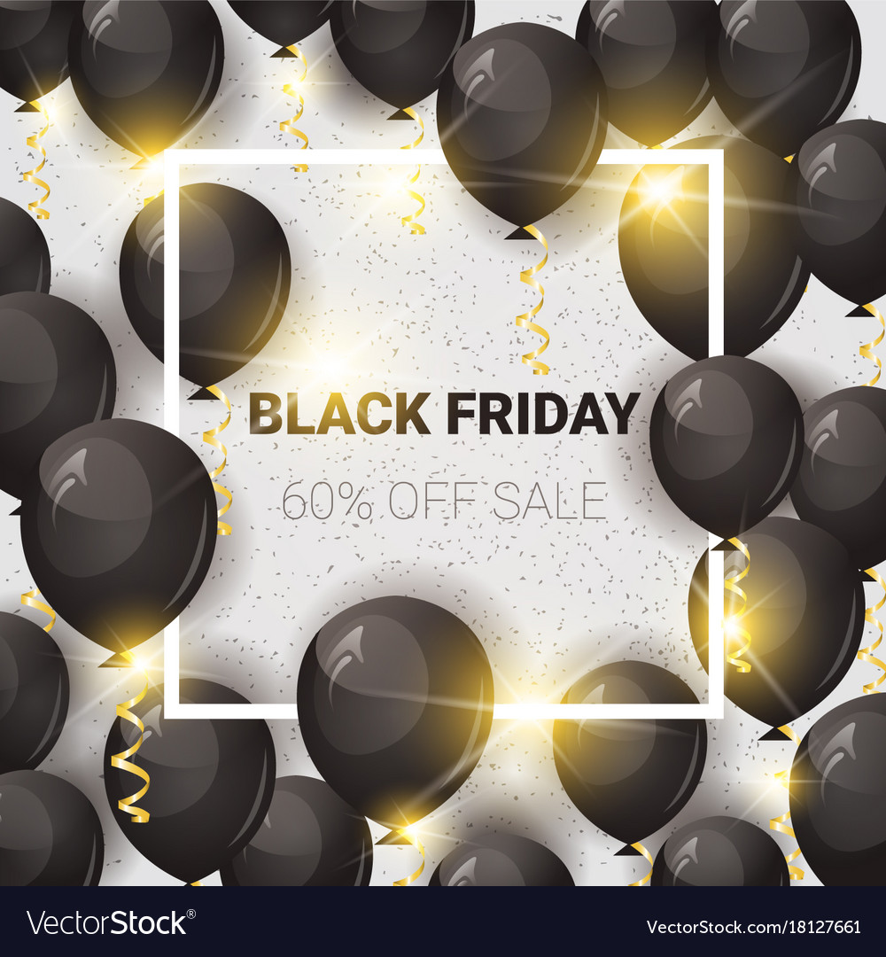 Black friday 60 percent off sale poster with air