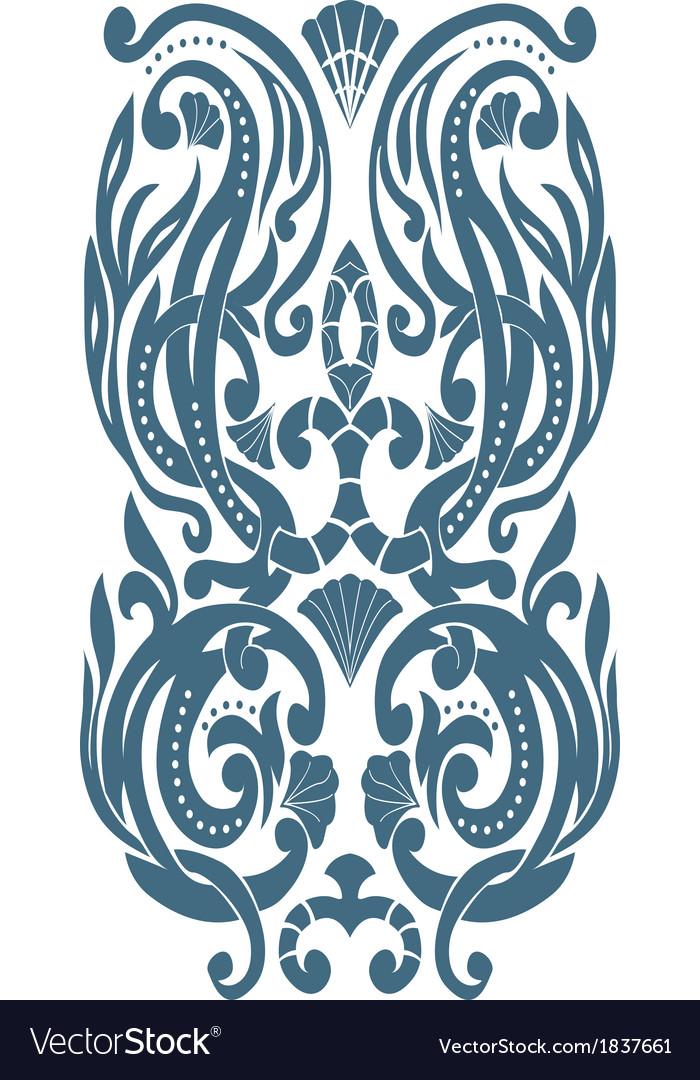 Corner Art Deco style vector image