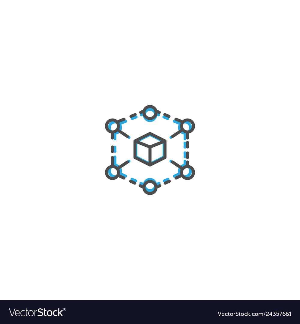 Cube icon design marketing icon line