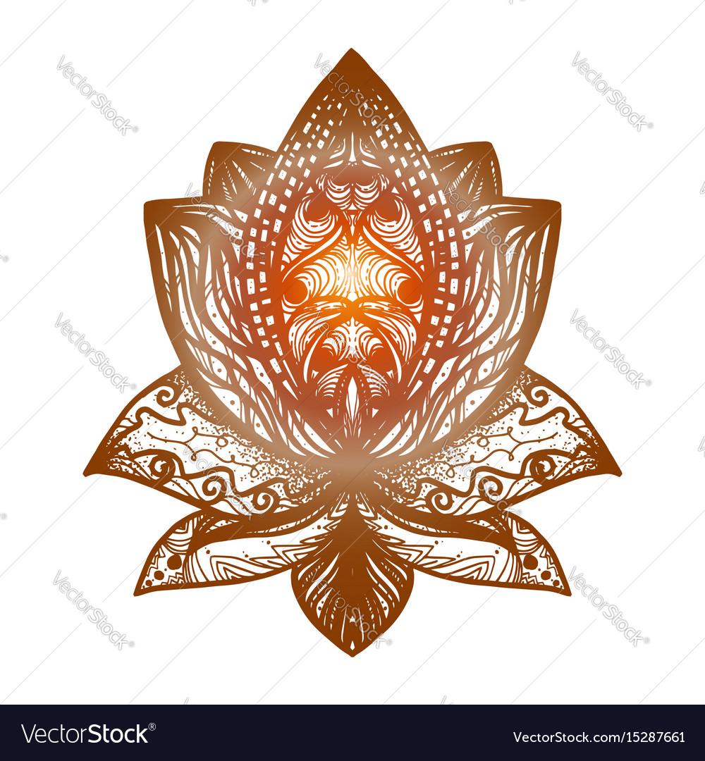 Flower lotus tattoo royalty free vector image vectorstock flower lotus tattoo vector image izmirmasajfo