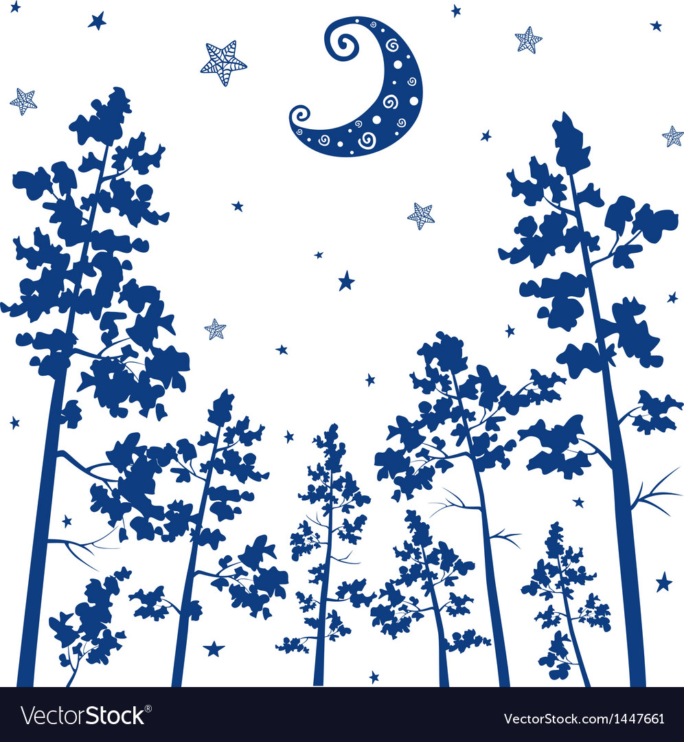 Forest silhouette vector image