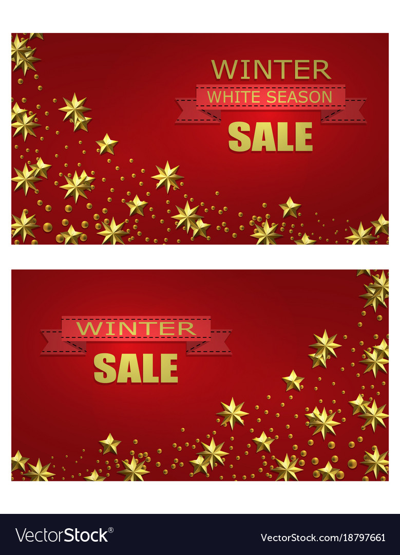 New year christmas flyer business cards Royalty Free Vector