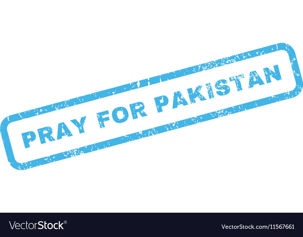 Pray For Pakistan Rubber Stamp