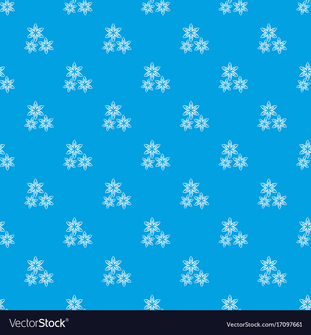 Star anise pattern seamless blue