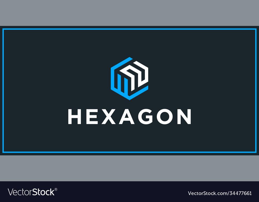 Wn hexagon logo design inspiration