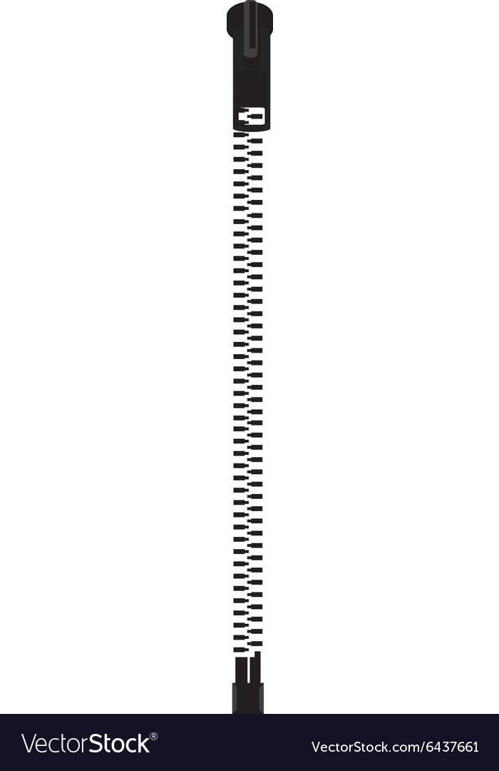 Zipper icon vector image