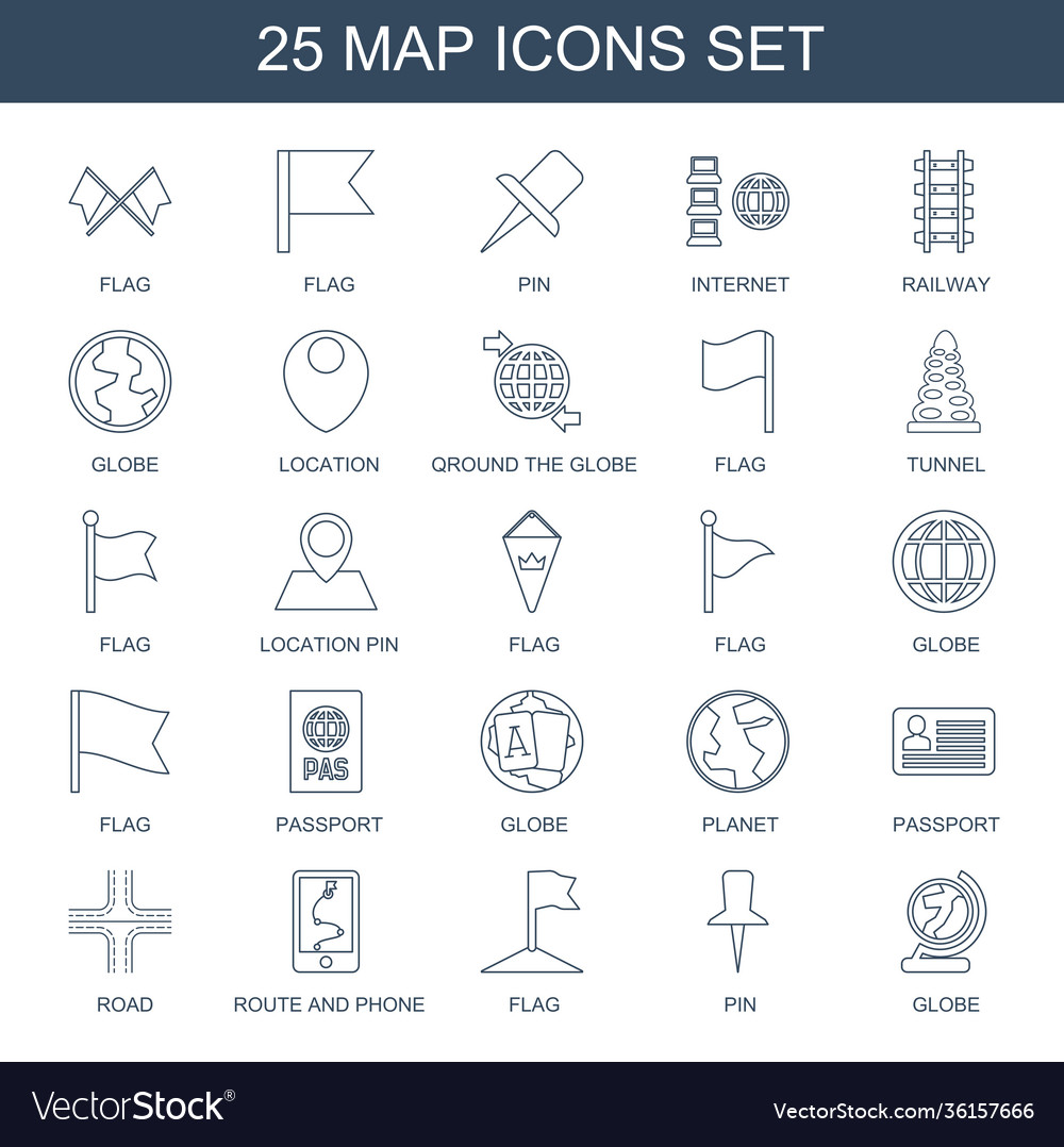 25 map icons