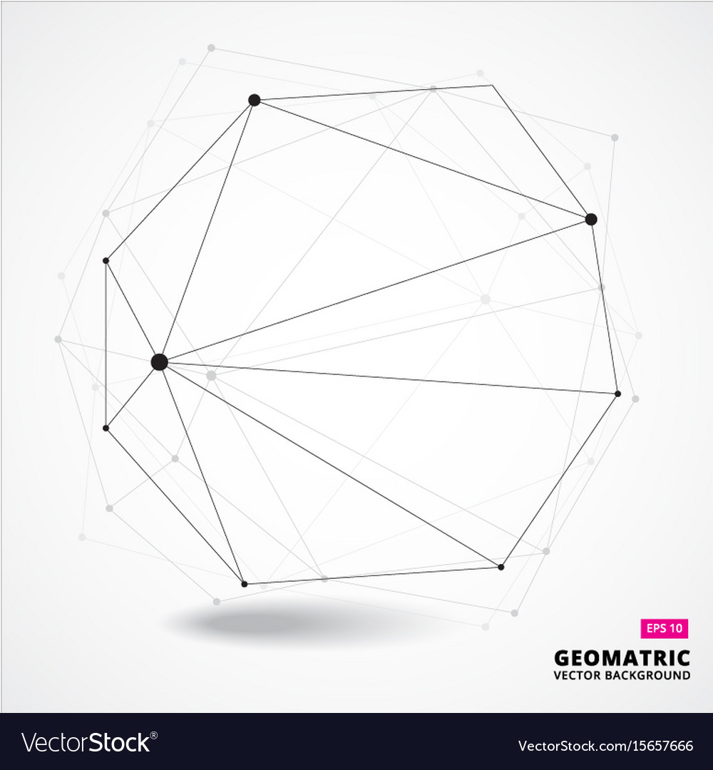 Abstract geometric composition forms 3d