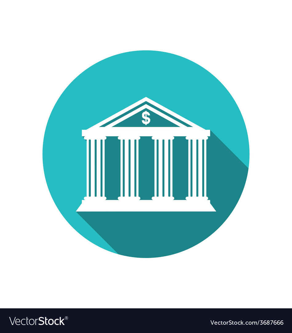 Bank building in the style of a classical Greek