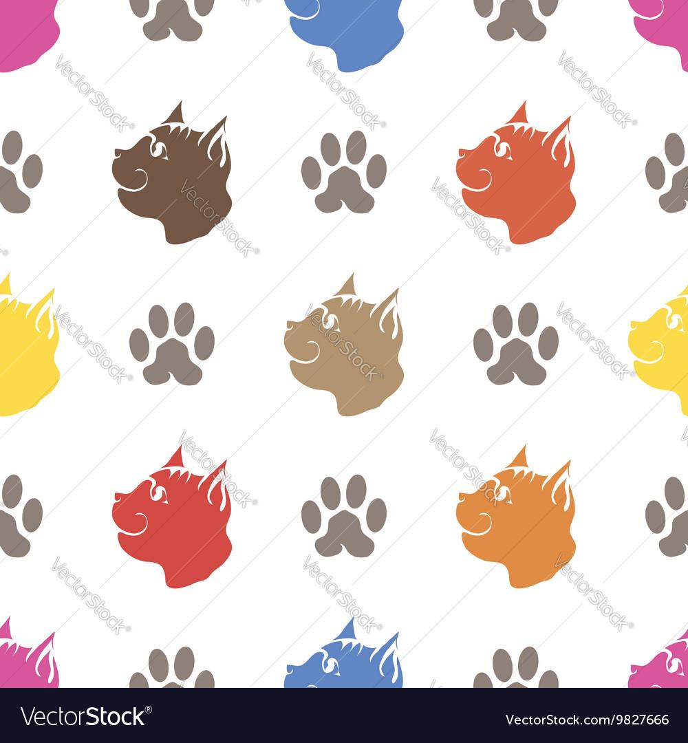 Cat Paw Seamless Animal Pattern vector image