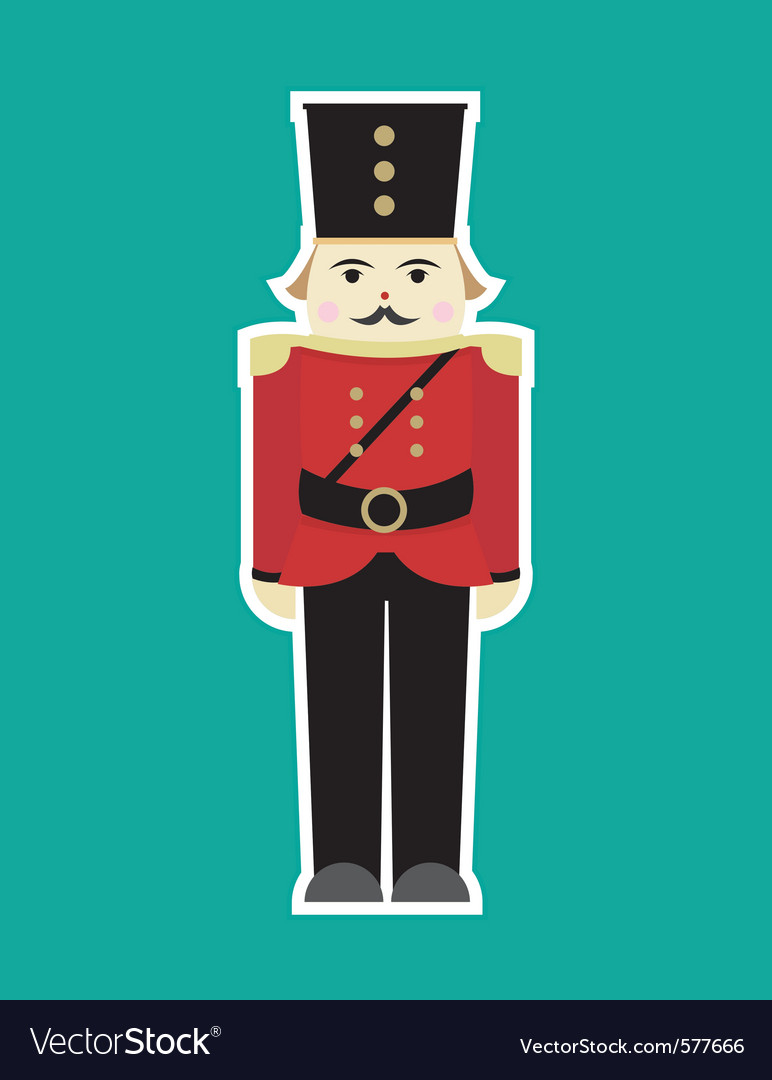 christmas soldier vector image - Christmas Soldier