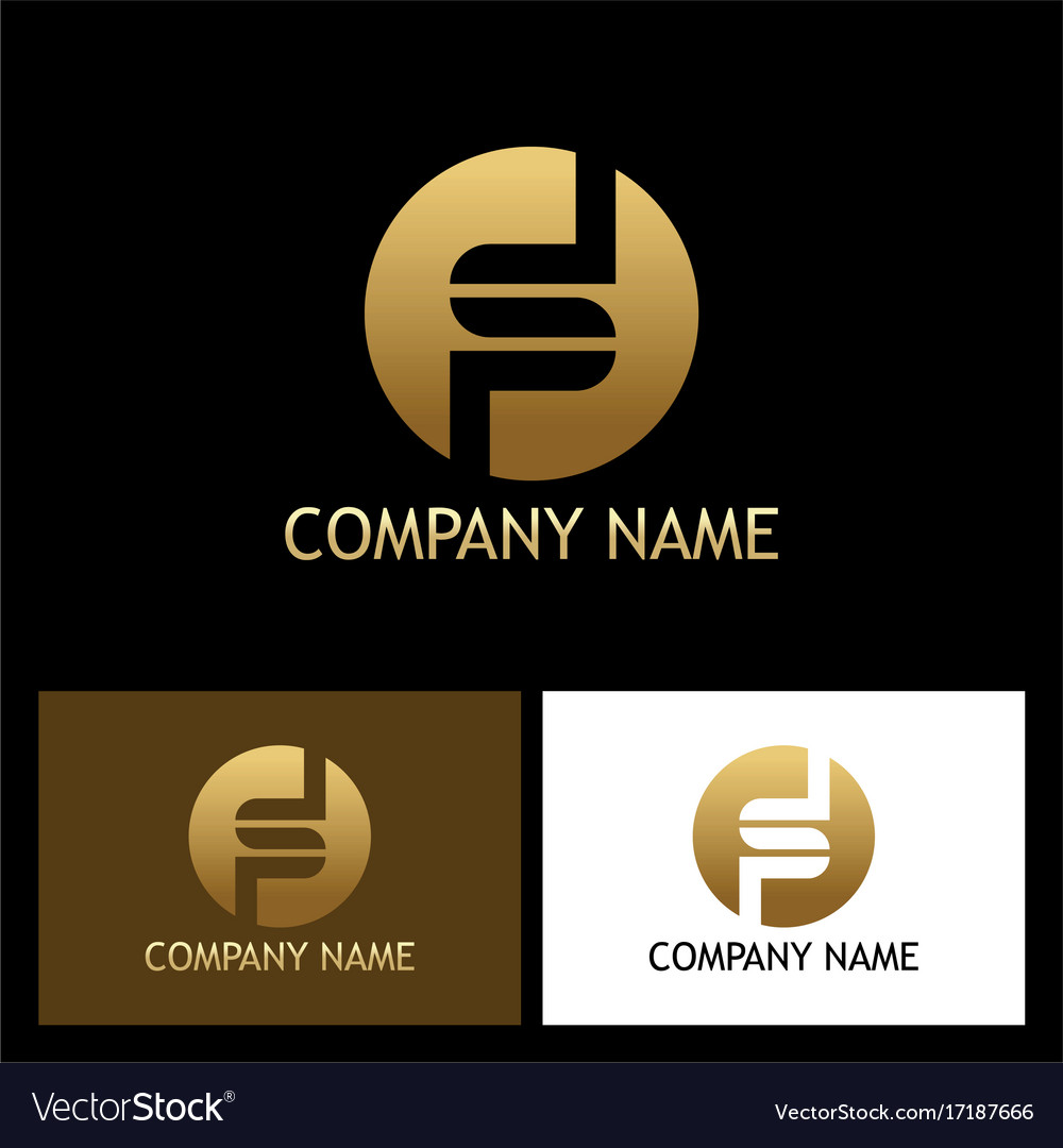 Gold letter s round company logo
