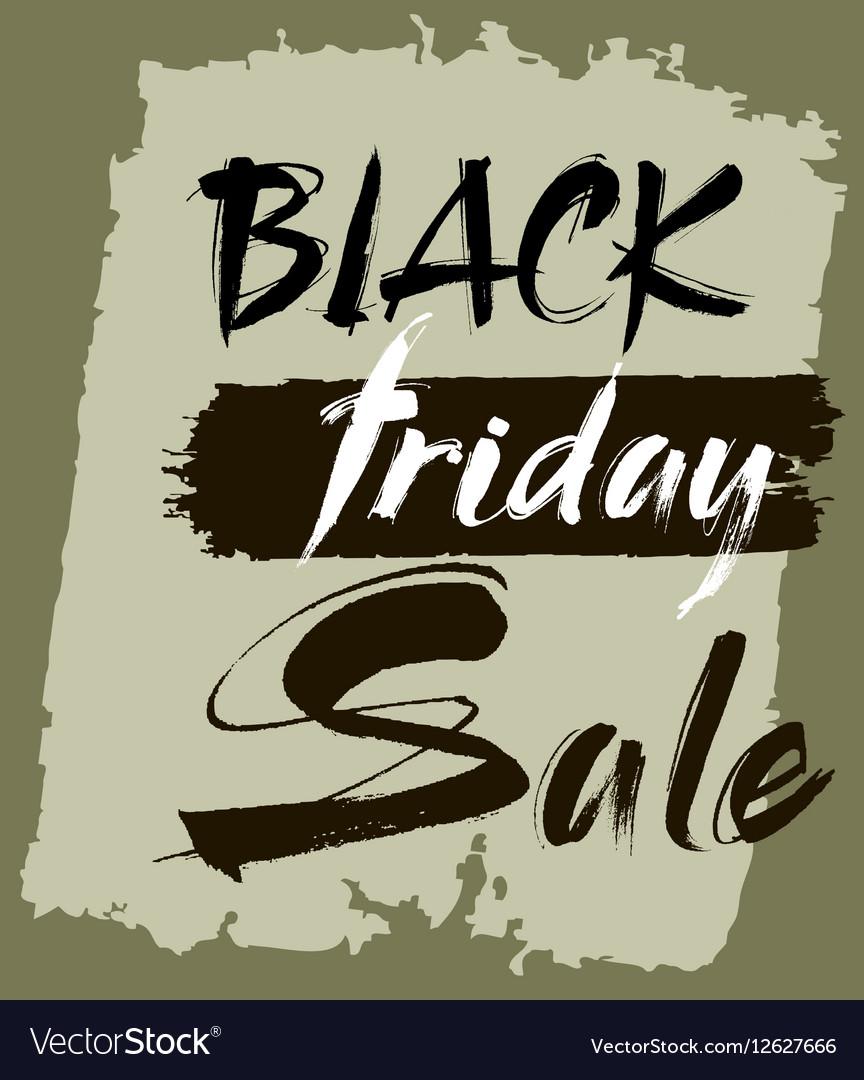 Hand lettering Black Friday sale