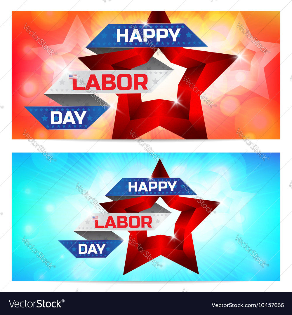 Happy Labor Day greeting card design