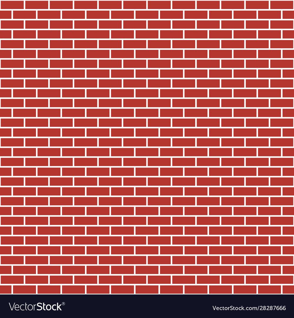 Red brick wall seamless pattern bricks